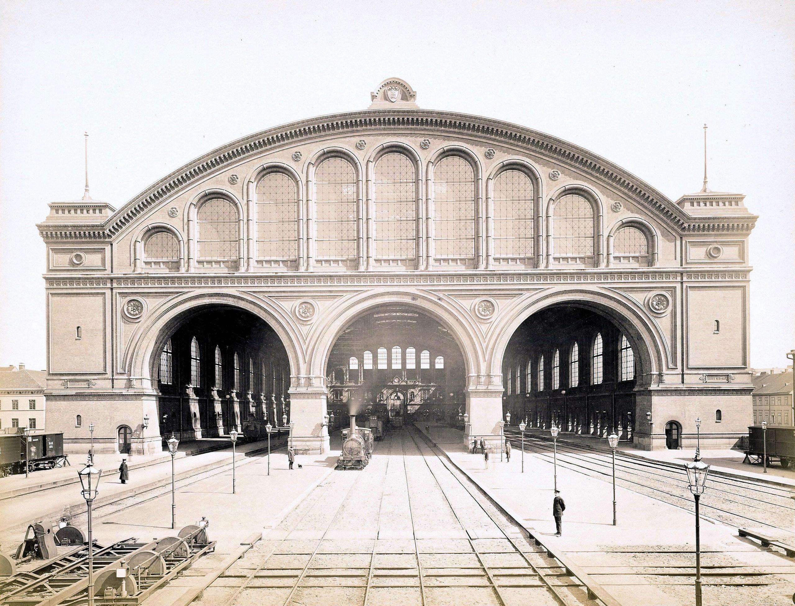 Schwechten Franz (1841-1924), Anhalter Bahnhof in Berlin